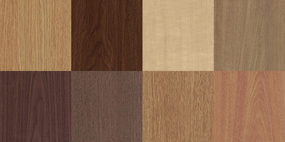 Eight examples of finishes offered by DECO Technologies